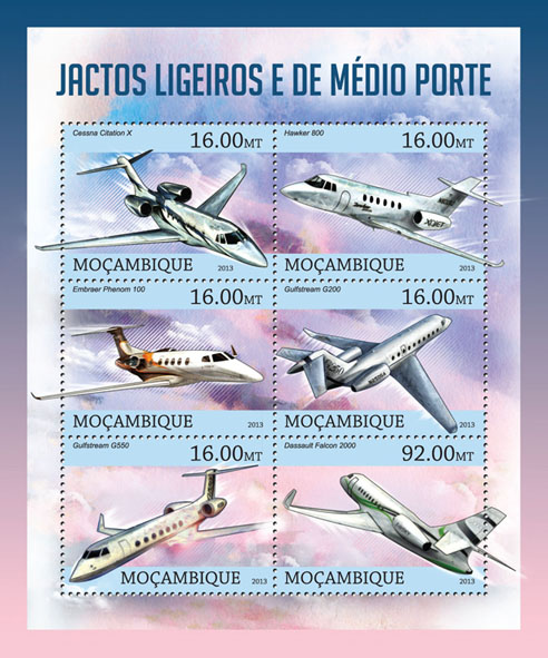 Planes - Issue of Mozambique postage Stamps