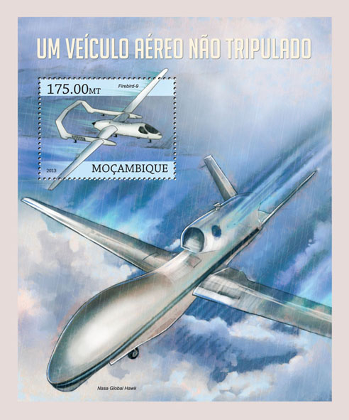 Drones - Issue of Mozambique postage Stamps