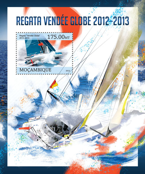 Regatta - Issue of Mozambique postage Stamps