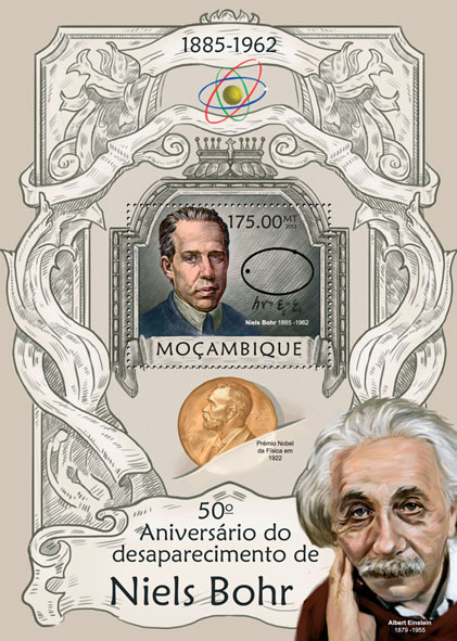Niels Bohr - Issue of Mozambique postage Stamps