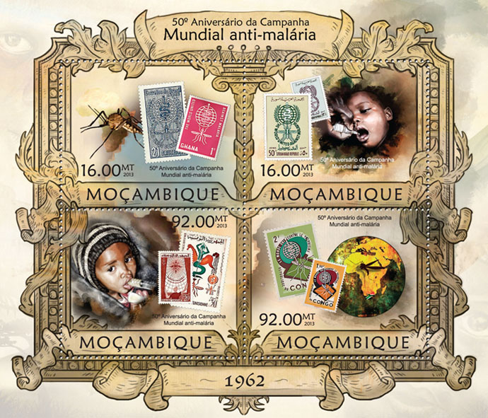 World antimalarial campaign - Issue of Mozambique postage Stamps