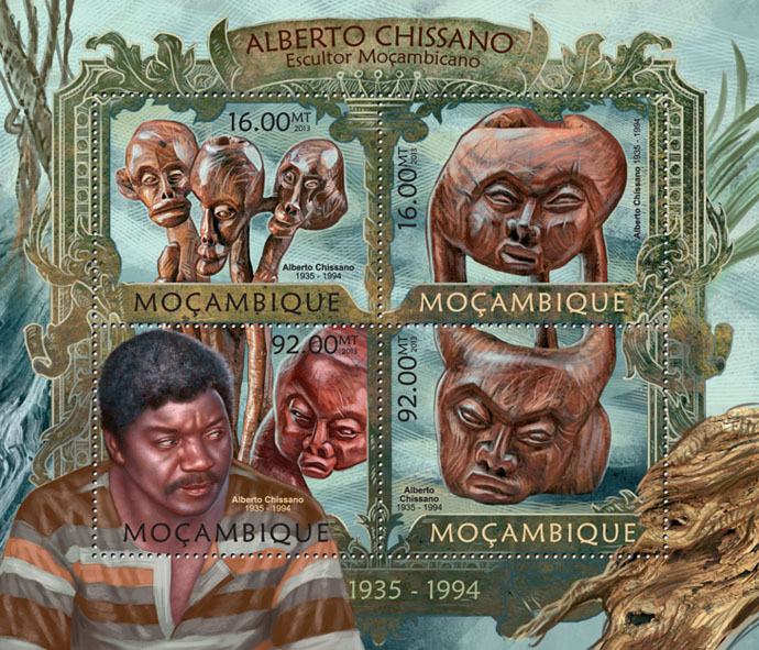 Alberto Chissano - Issue of Mozambique postage Stamps
