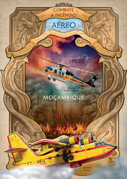 Firefighting - Issue of Mozambique postage Stamps