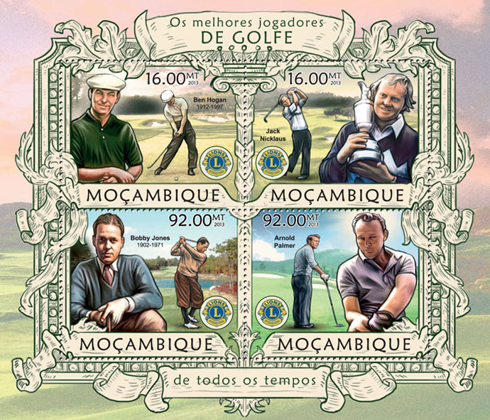 Golf - Issue of Mozambique postage Stamps
