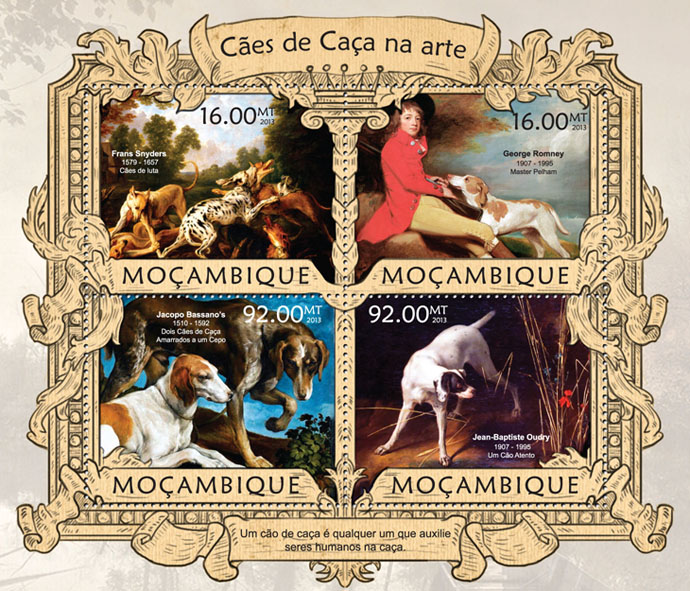 Dogs - Issue of Mozambique postage Stamps