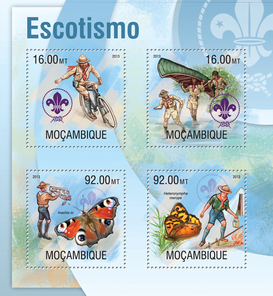 Scouting - Issue of Mozambique postage Stamps