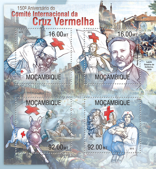 Red Cross - Issue of Mozambique postage Stamps