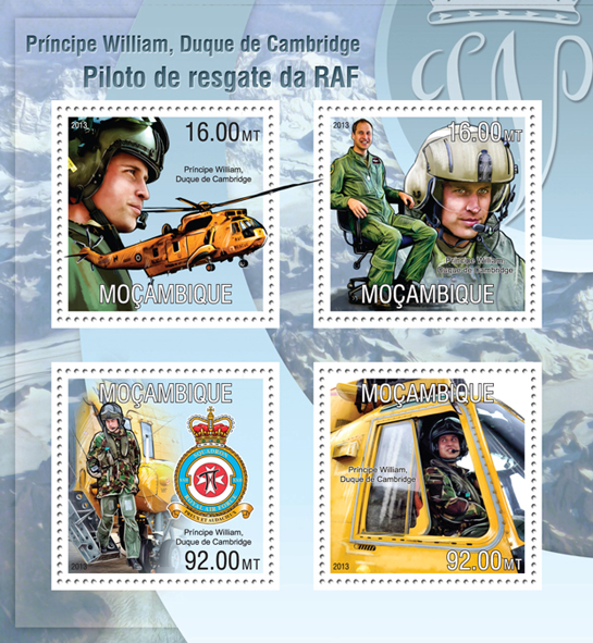 Prince William - Issue of Mozambique postage Stamps
