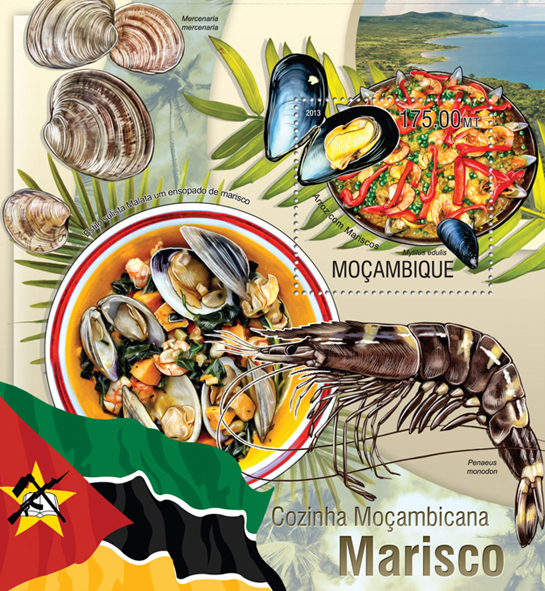 Mozambican Kitchen - Issue of Mozambique postage Stamps