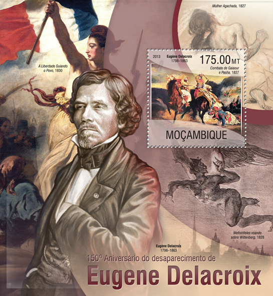 Eugene Delacroix - Issue of Mozambique postage Stamps