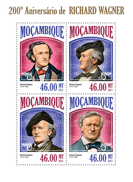 Richard Wagner  - Issue of Mozambique postage Stamps