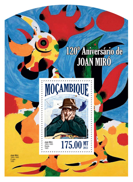 Joan Miro - Issue of Mozambique postage Stamps