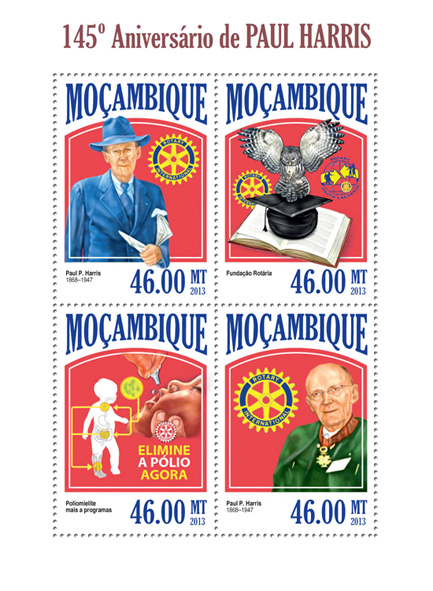 Paul Harris - Issue of Mozambique postage Stamps