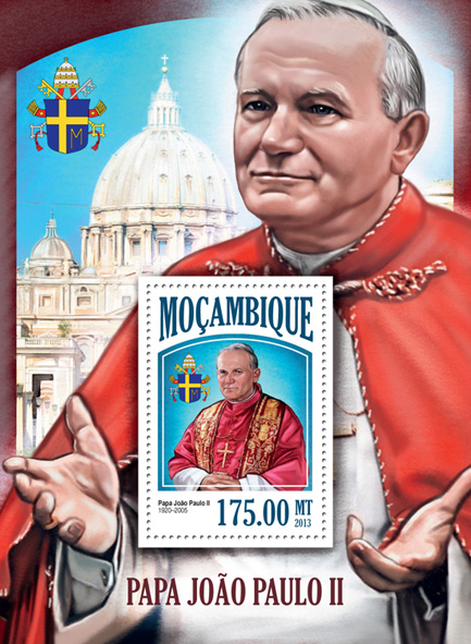 Pope John Paul II - Issue of Mozambique postage Stamps