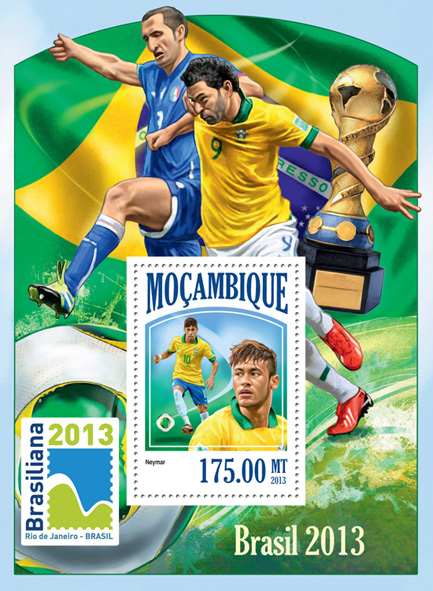 Brazil 2013 - Issue of Mozambique postage Stamps