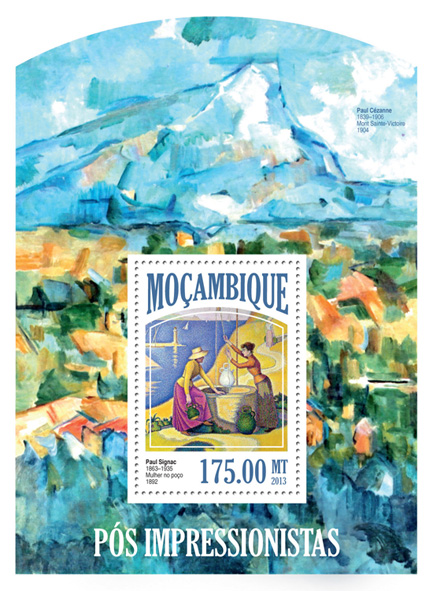 Post Impressionists - Issue of Mozambique postage Stamps