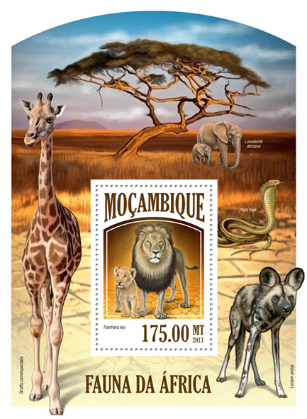 Fauna - Issue of Mozambique postage Stamps