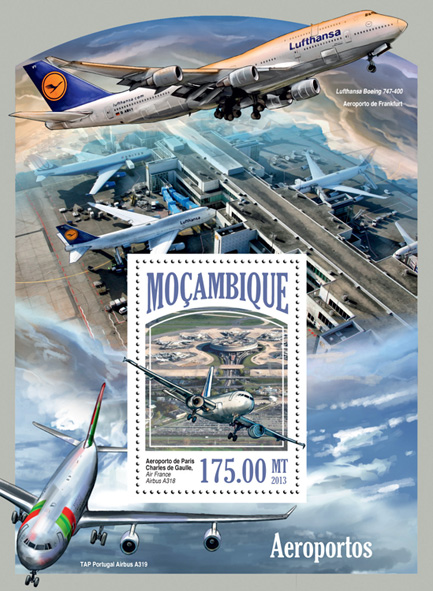 Airports - Issue of Mozambique postage Stamps