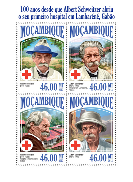 Albert Schweitzer - Issue of Mozambique postage Stamps