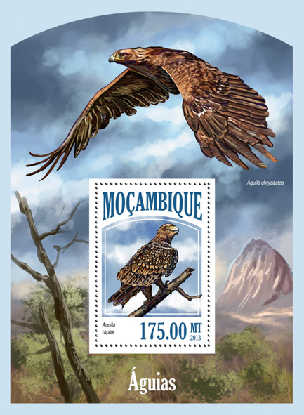 Eagles - Issue of Mozambique postage Stamps
