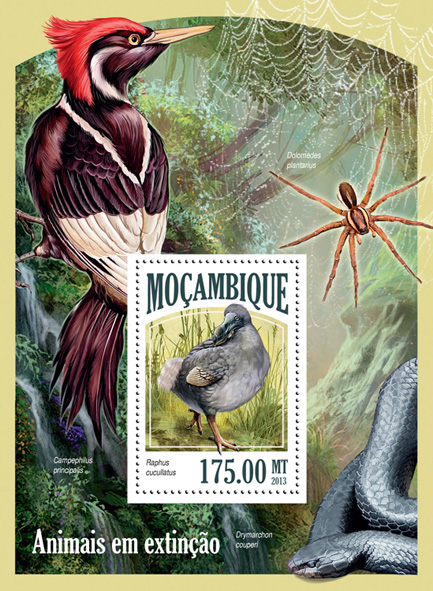 Endangered species - Issue of Mozambique postage Stamps