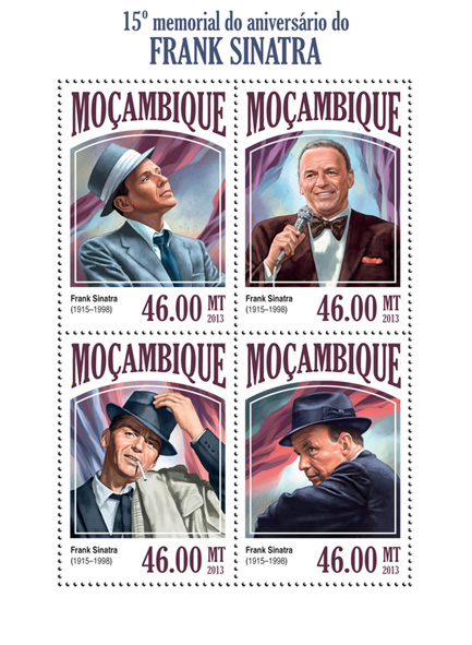 Frank Sinatra - Issue of Mozambique postage Stamps
