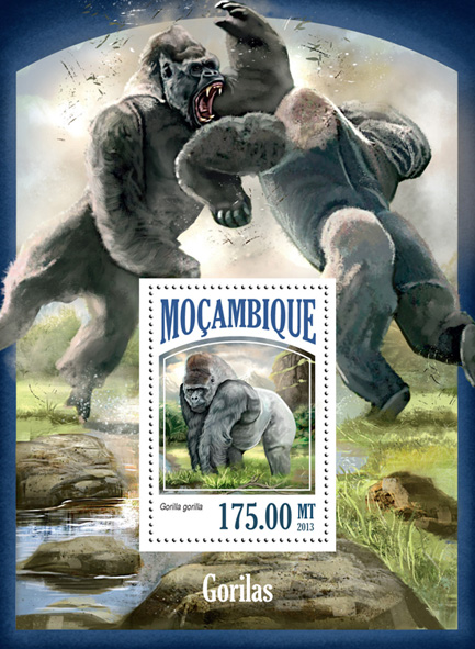 Gorillas - Issue of Mozambique postage Stamps