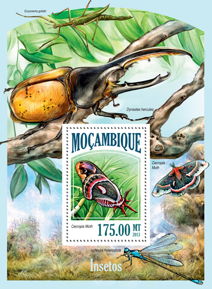 Insects - Issue of Mozambique postage Stamps