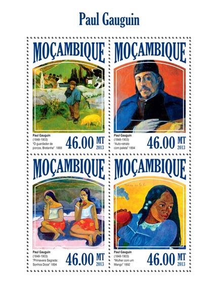 Paul Gauguin - Issue of Mozambique postage Stamps