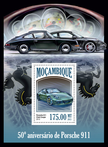 Porsche 911 - Issue of Mozambique postage Stamps