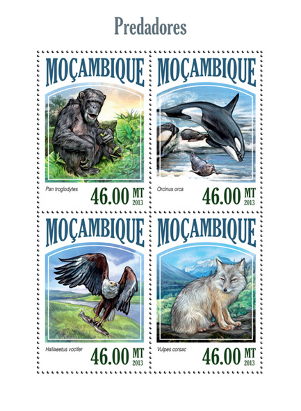 Predators - Issue of Mozambique postage Stamps
