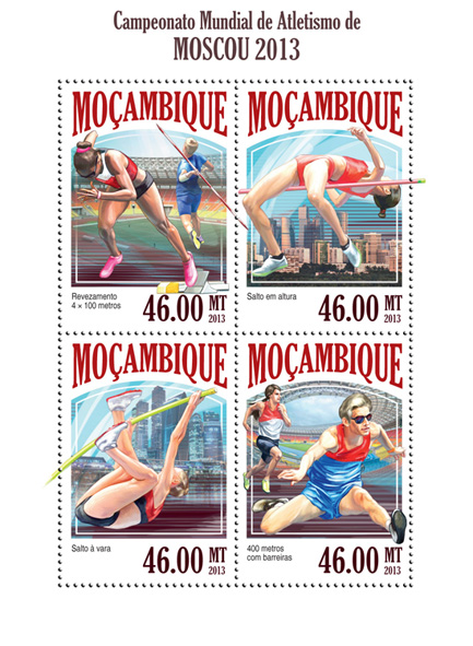 Champioship Moscow 2013 - Issue of Mozambique postage Stamps