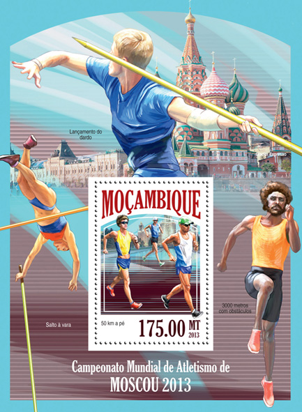 Champioship Moscow 2016 - Issue of Mozambique postage Stamps