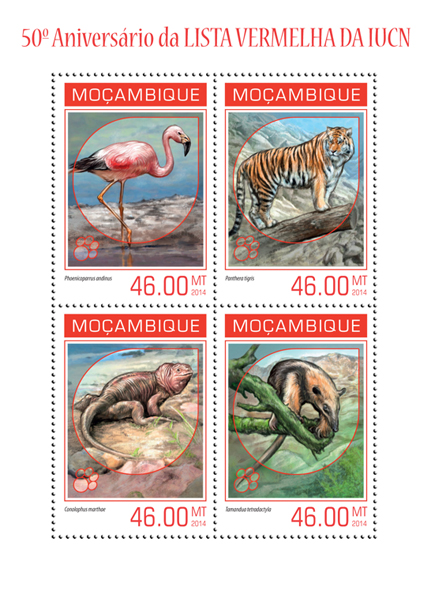 IUCN Red List - Issue of Mozambique postage Stamps