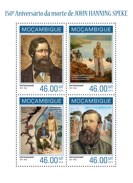 John Hanning Speke - Issue of Mozambique postage Stamps
