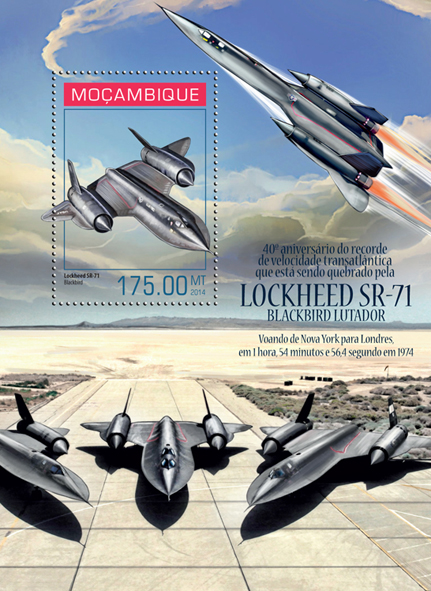 Lockheed SR-71 Blackbird - Issue of Mozambique postage Stamps