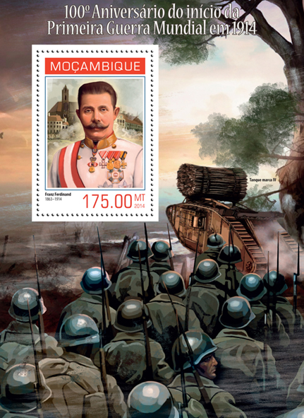 World War I - Issue of Mozambique postage Stamps