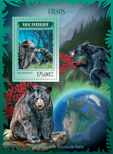 Bears - Issue of Mozambique postage Stamps