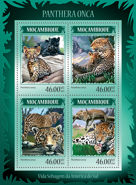 Jaguars - Issue of Mozambique postage Stamps