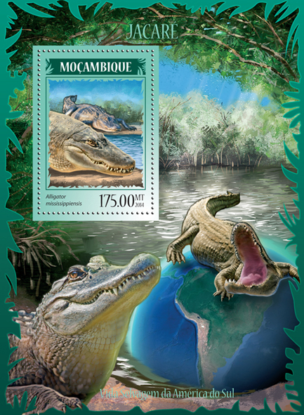 Alligators - Issue of Mozambique postage Stamps