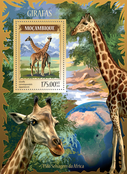 Girafes - Issue of Mozambique postage Stamps