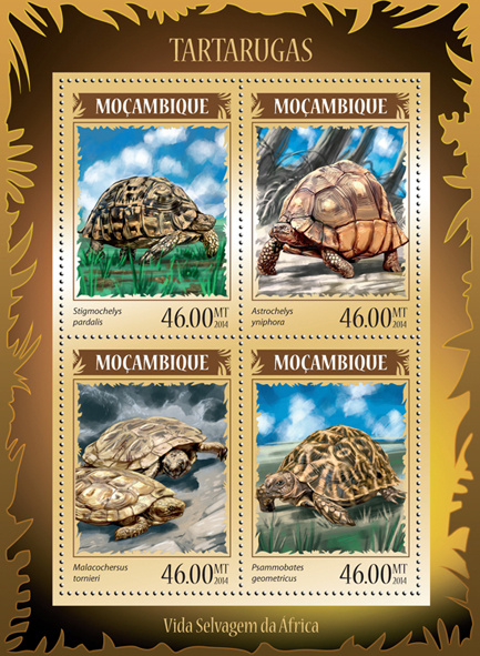 Turtles - Issue of Mozambique postage Stamps
