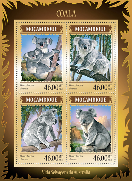 Koala - Issue of Mozambique postage Stamps