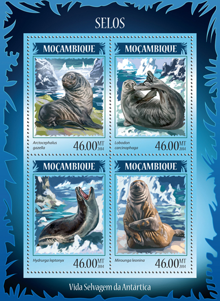 Seals - Issue of Mozambique postage Stamps
