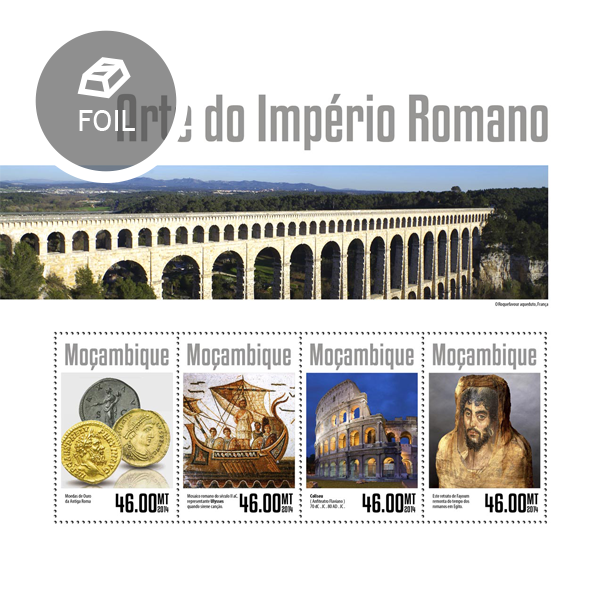 The Roman Empire art - Issue of Mozambique postage Stamps