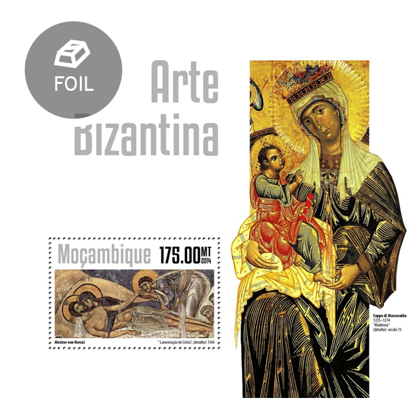 Byzantine art - Issue of Mozambique postage Stamps