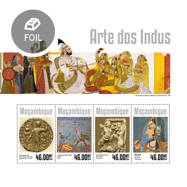 Art of Indus - Issue of Mozambique postage Stamps