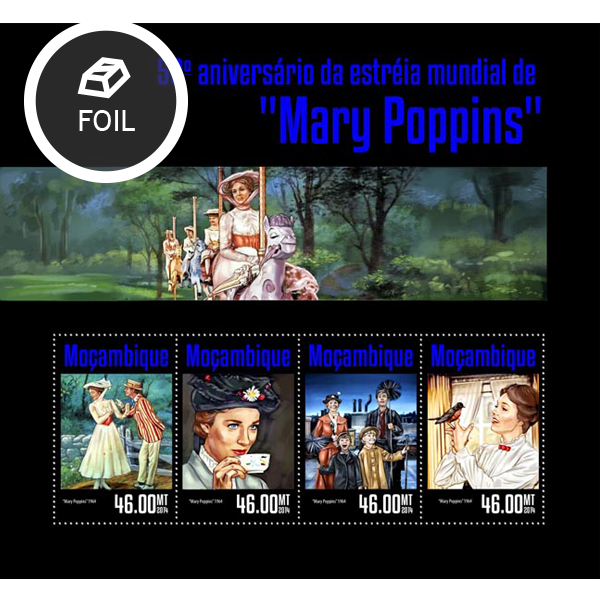 Marry Poppins - Issue of Mozambique postage Stamps