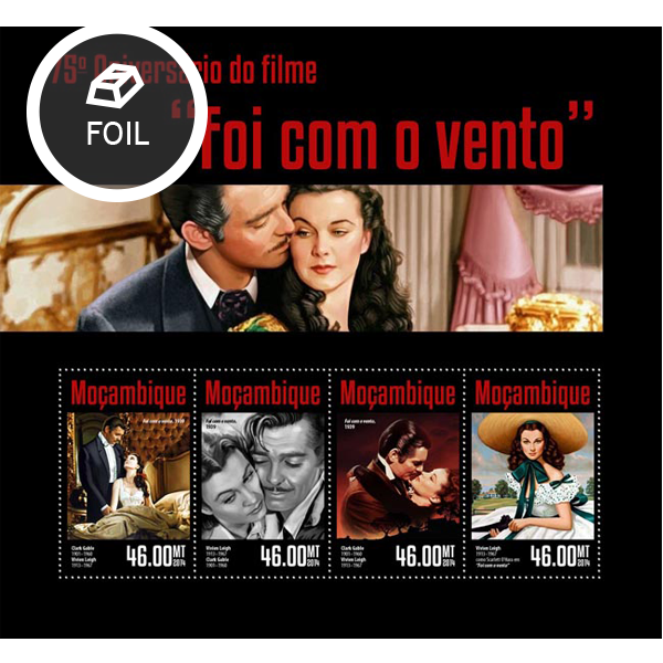 Gone with the wind - Issue of Mozambique postage Stamps