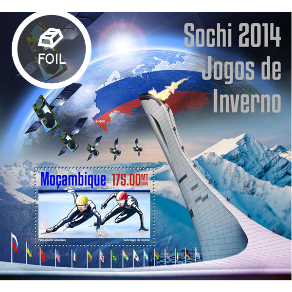 Sochi 2014 - Issue of Mozambique postage Stamps